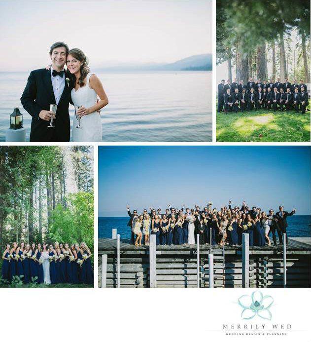 Lake Tahoe Wedding Merrily Wed Weddings Lakefront Estate Party