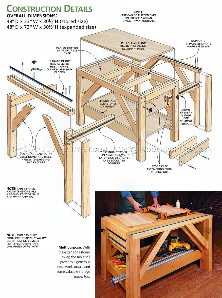996 Plywood Cutting Table Plans Circular Saw Work Solutions