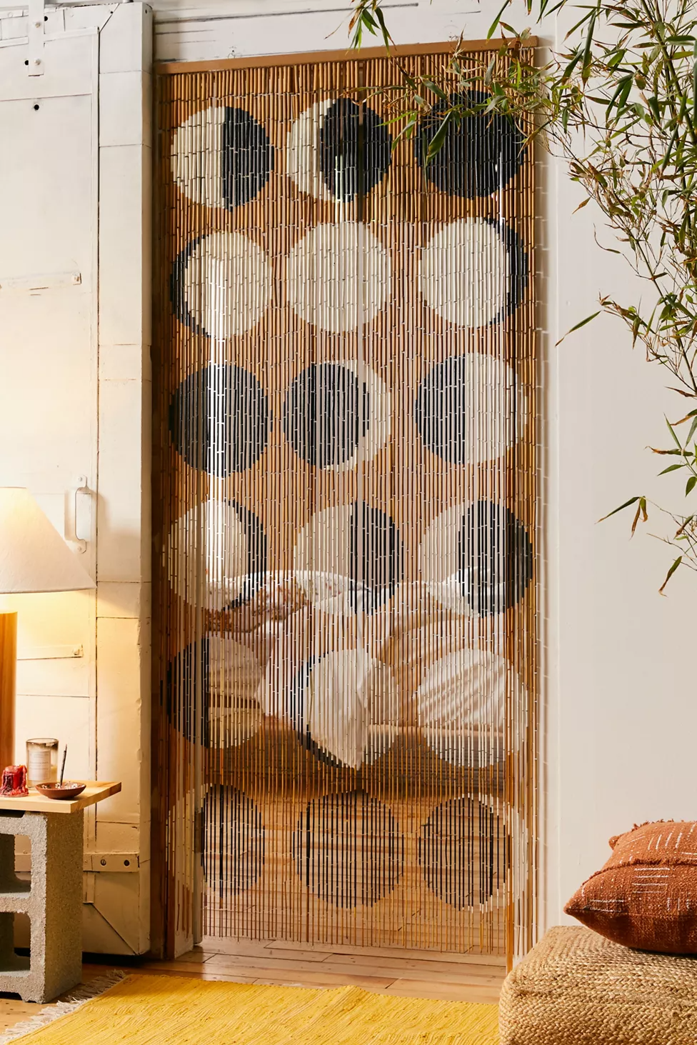 Moon Phases Bamboo Beaded Curtain In 2020 Bamboo Beaded Curtains Bamboo Curtains Beaded Curtains