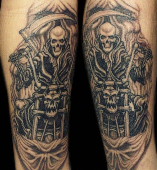 3dfba10eb Biker Tattoos - Ideas And Pictures | Tattoos | Motorcycle tattoos ...