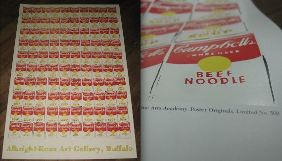 ANDY WARHOL ORIGINAL 100 Cans Campbell's Soup by TheAvidDiva