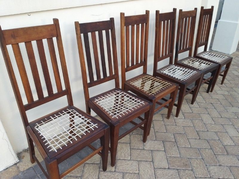 Stink Wood Dining Room Chairs 6 Items Stellenbosch Gumtree