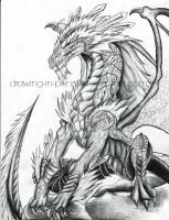 The Detail of a Dragon by Drawing-in-pencil