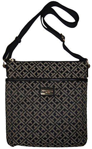 9ebbe67c1af Tommy Hilfiger Women's/Girl's Xbody/Crossbody Handbag, Black Logo -- Want  additional info? Click on the image.