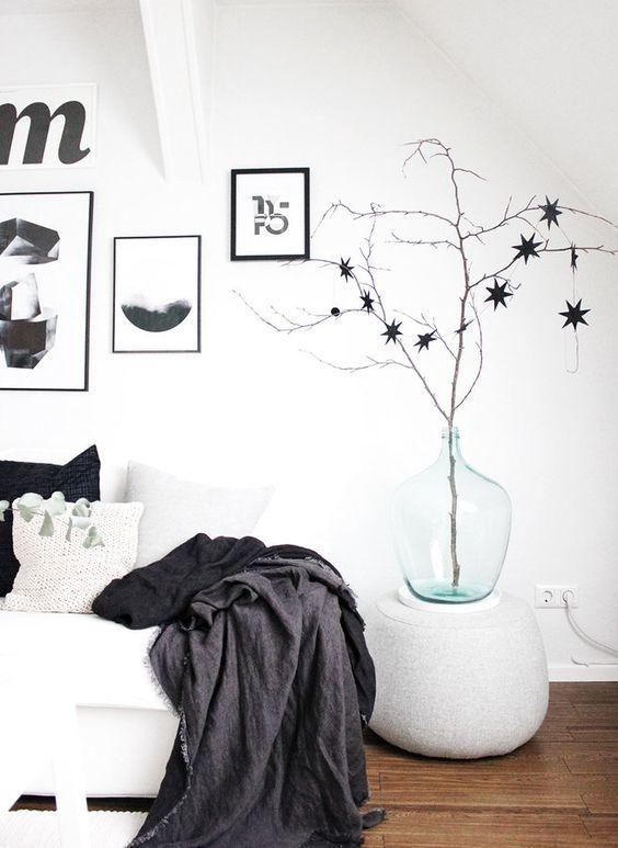 die schlichte schwarze sternengirlande habe ich letztes jahr bei sostrene grene mitgenommen und. Black Bedroom Furniture Sets. Home Design Ideas