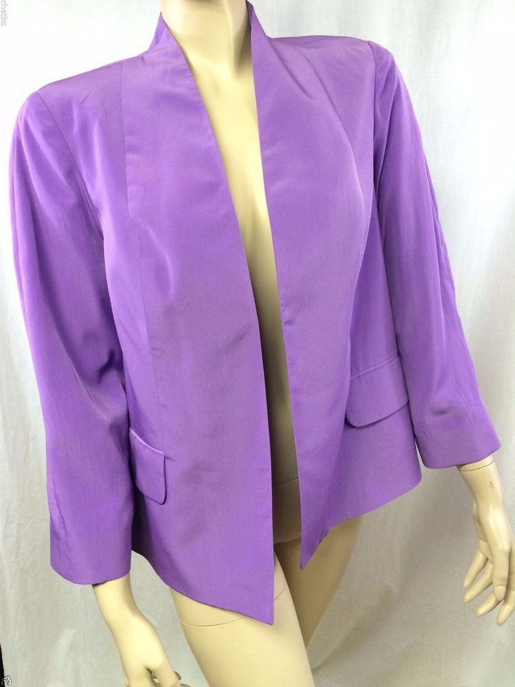 Peck & Peck Collection Size 10 Jacket Blazer Suit Top Purple Spring Attire NEW #PeckPeck #Blazer