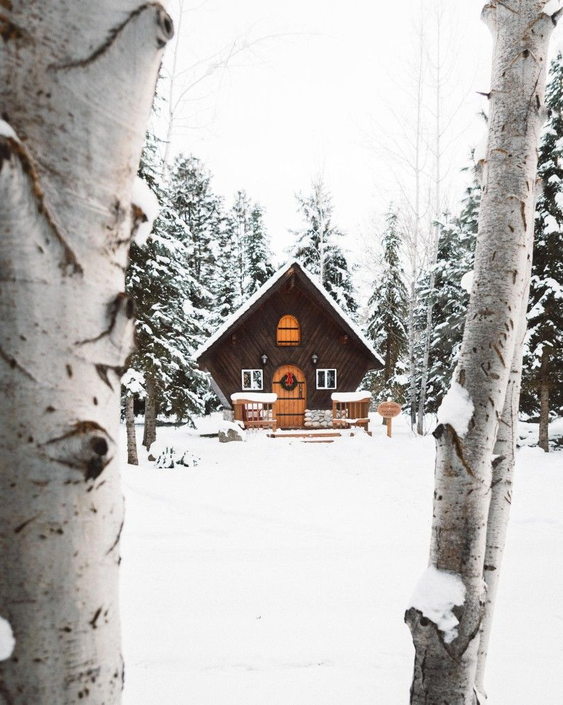 Snow Cabin | Cabin in the Woods | Pinterest | Cabin, Cabin fever and ...