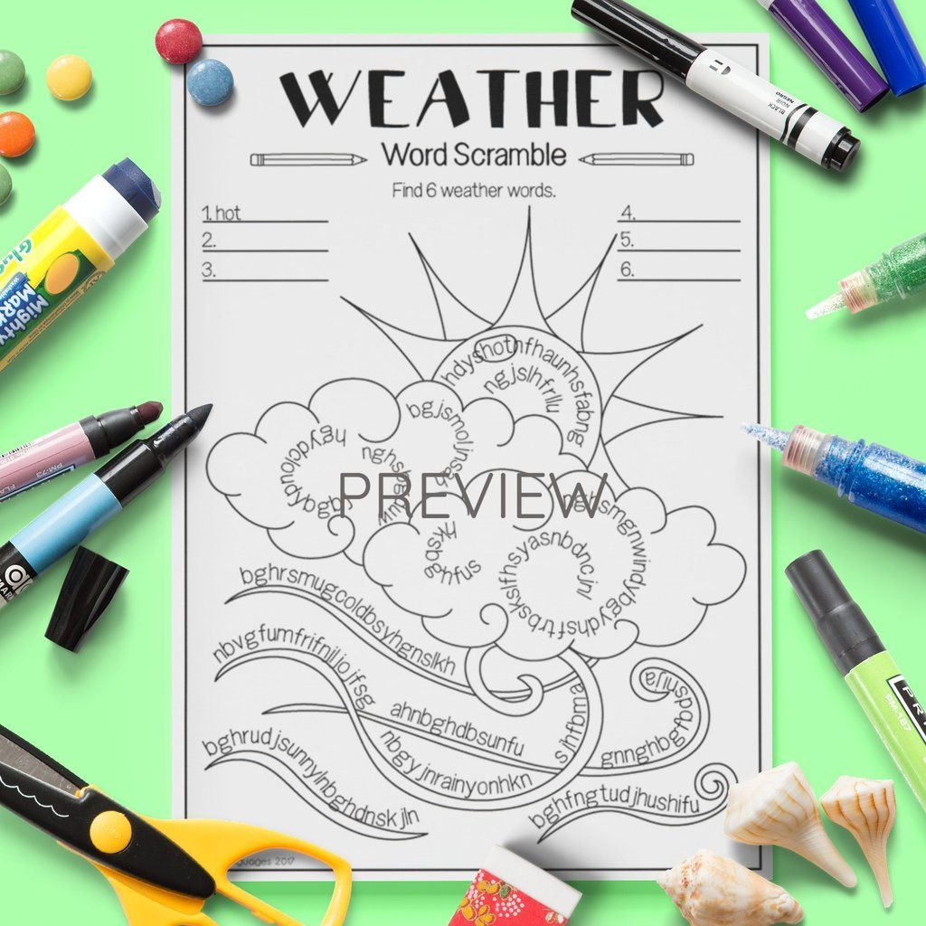 Weather Word Scramble
