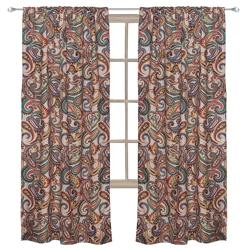 Levtex Home Alyssa 55 Rod Pocket Paisley Window Curtain Panel In