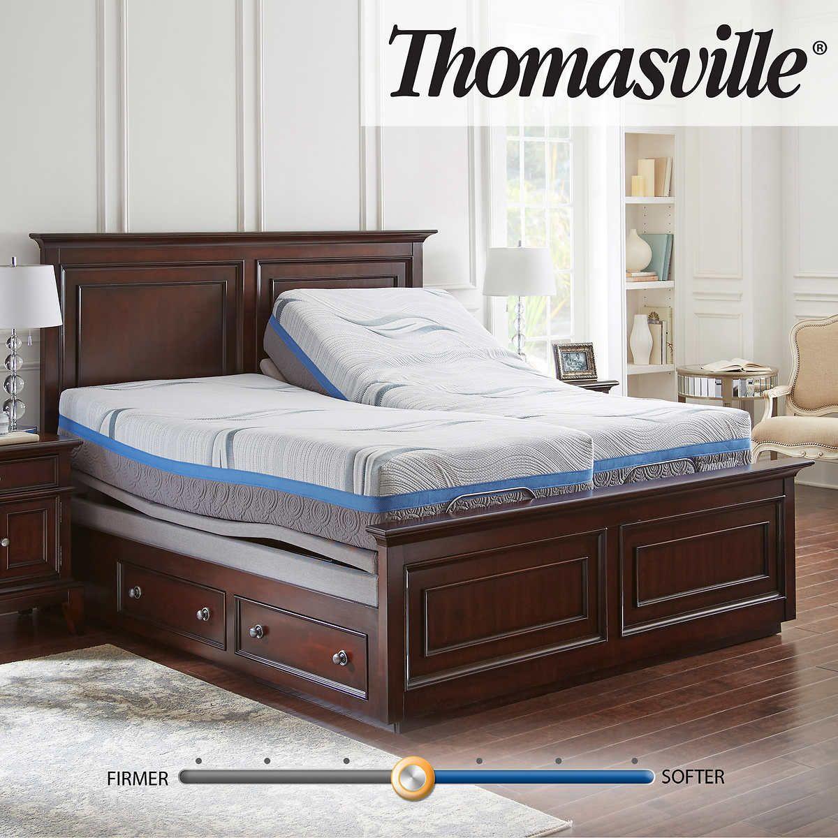 """Thomasville Gel Rest 12"""" Memory Foam Split King Mattress"""