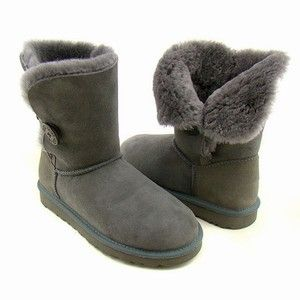 Ugg Boots Bailey Button Grey Uggs Ugg Boots Boots