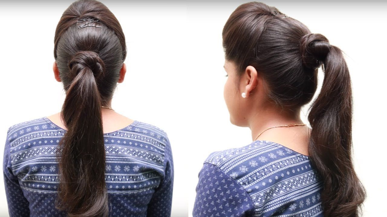 2 Minute Hairstyles 2 Minute Perfect High Ponytail  No Teasing No Spray  Easy
