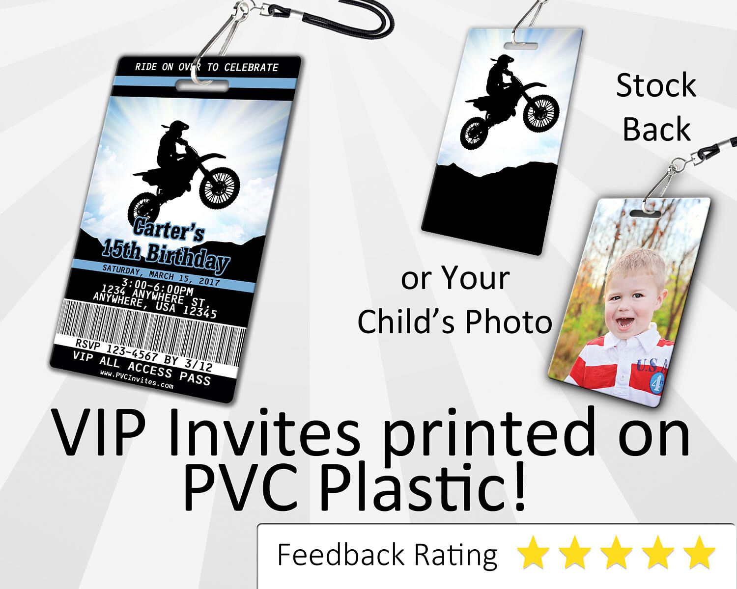 Motocross Invitation PLASTIC Motocross Birthday, Motocross Birthday ...