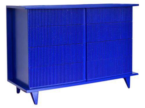 American of Martinsville Klein Blue Bamboo Dresser on Chairish.com