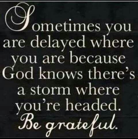 Be thankful......