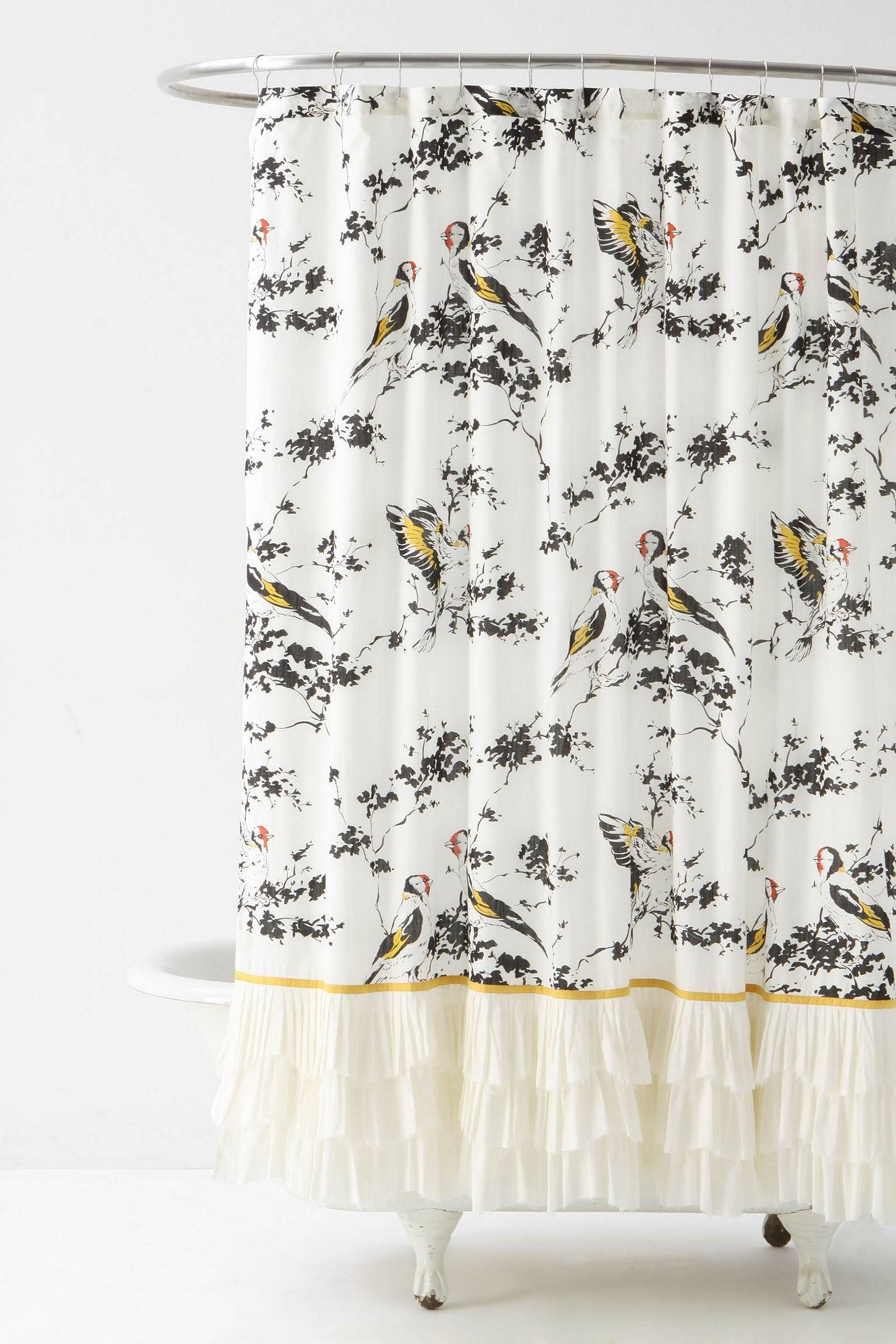 Anthropologie Shower Curtain Yellow Shower Curtains Stylish