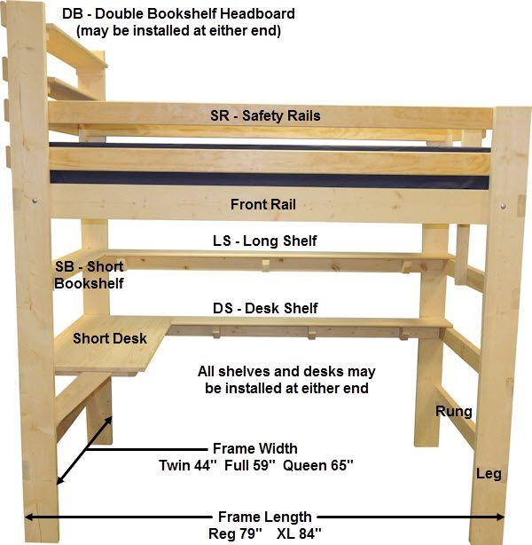 Loft Bed Bunk Beds Height Calculator Bedroom Ideas