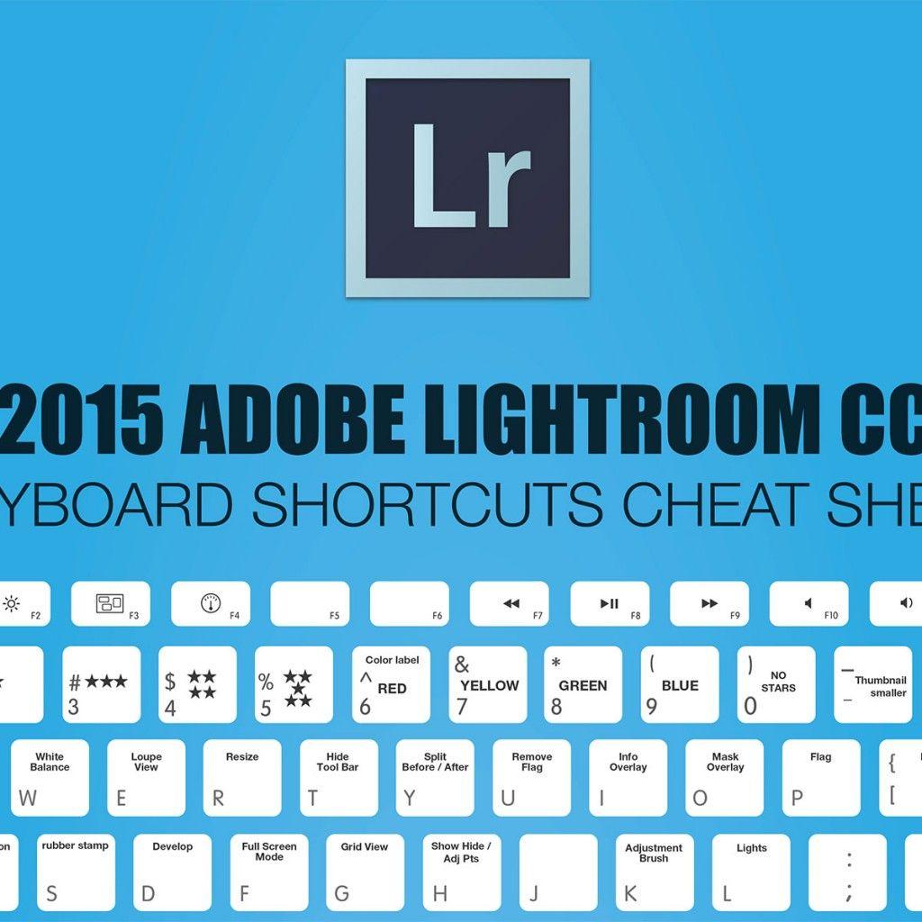 2018 Adobe Lightroom Keyboard Shortcuts Cheat Sheet