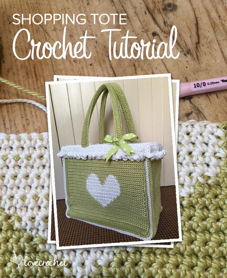 Crochet club: free shopping bag crochet tutorial by Kate Eastwood on LoveCrochet
