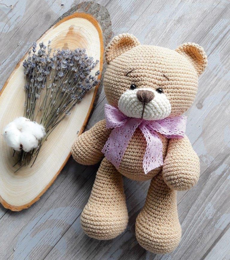Медвежонок амигуруми крючком #singlecrochet