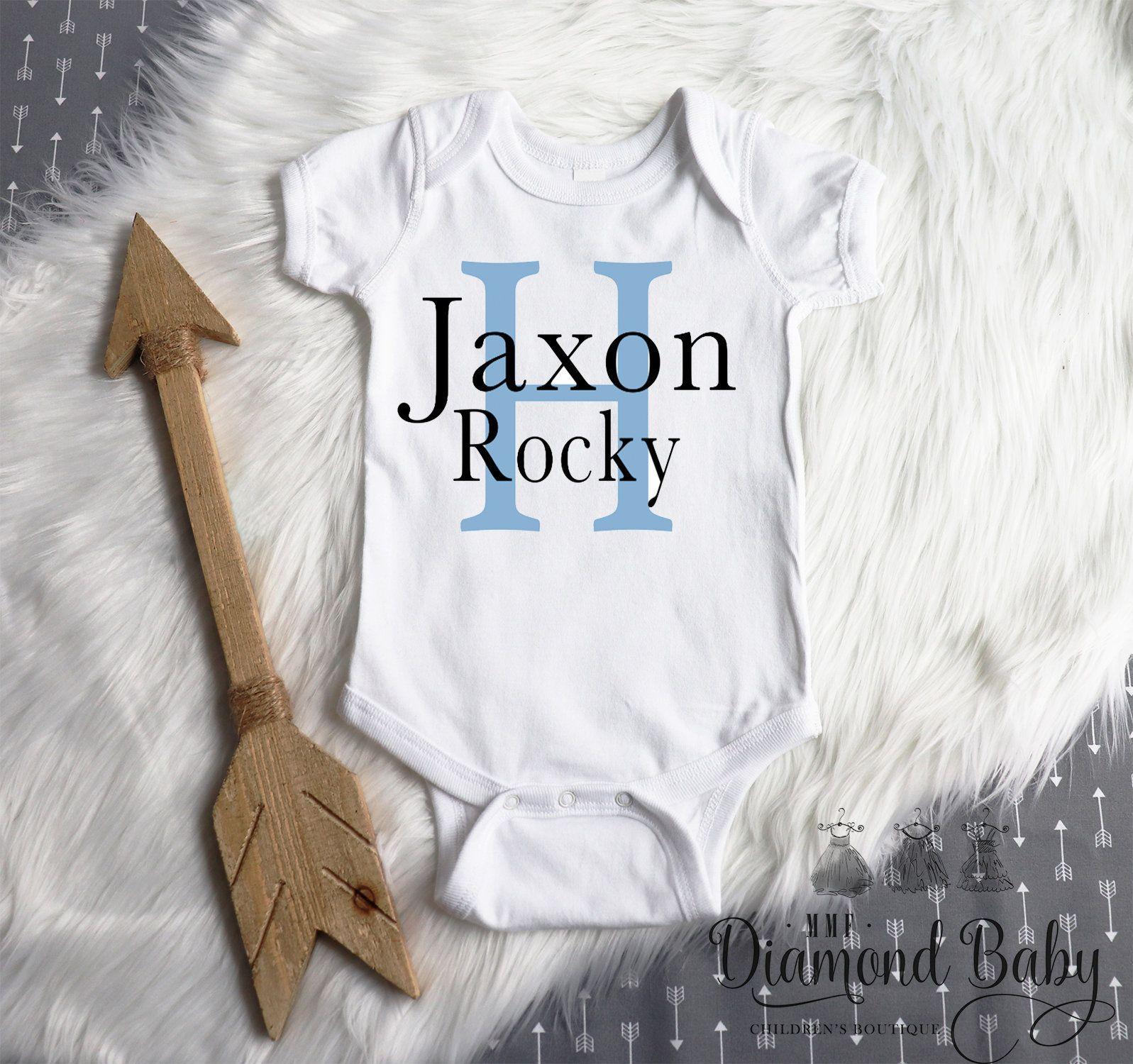 Personalized newborn boy onesie | Personalized onesie boy ...
