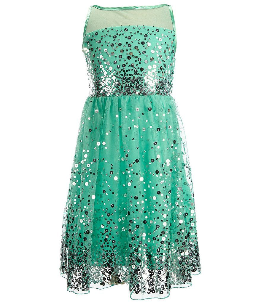 Shop for Poppies and Roses Big Girls 7-16 Sequin Illusion Party ...