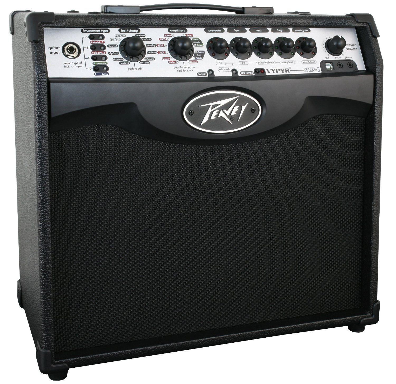 You Can Find A Selection Of Peavey Amps Including This Peavey Vypyr Vip 1 20 Watt Modeling Instrumental Amplifier At Jsmartmusic Com Peavey Amp Guitar