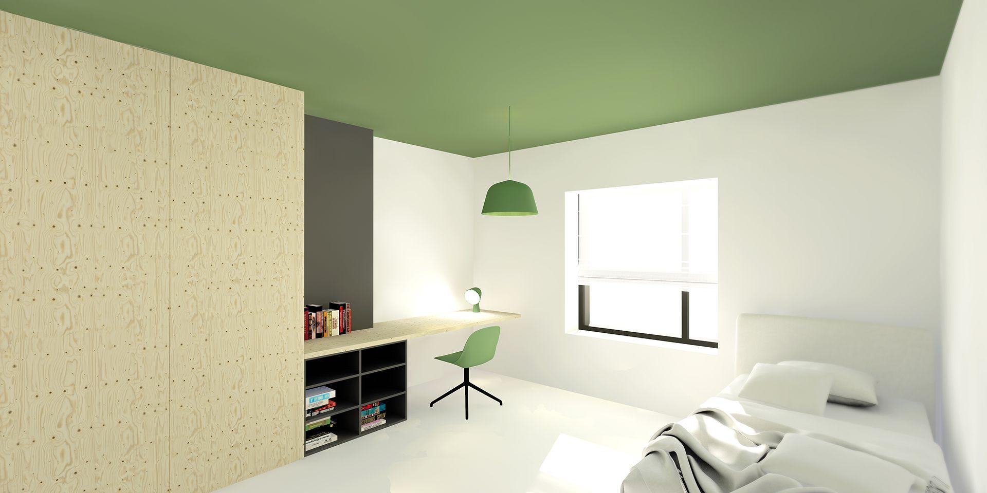 Slaapkamer #renovatie #glas #hout #plywood #modern #belgië #tuin ...