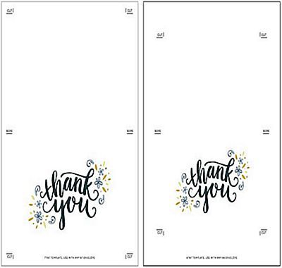 templates to make your own thank you cards free school general
