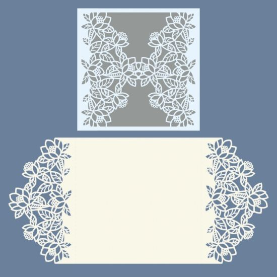 Laser cut wedding invitations template free vector designs every - wedding card template