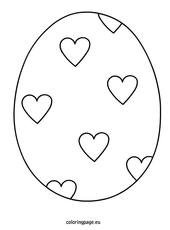 Easter Egg Hearts Coloring