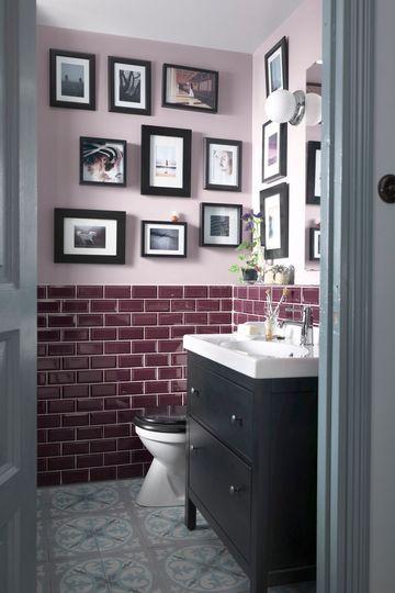 Petite salle de bain avec baignoire douche design salle de bain purple bathrooms bathroom - Baignoire et douche dans petite salle de bain ...