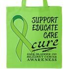 Inktastic Support Educate Care Cure Gall Bladder And Bile Duct Tote Bag Green #Men #Bags #gallbladder