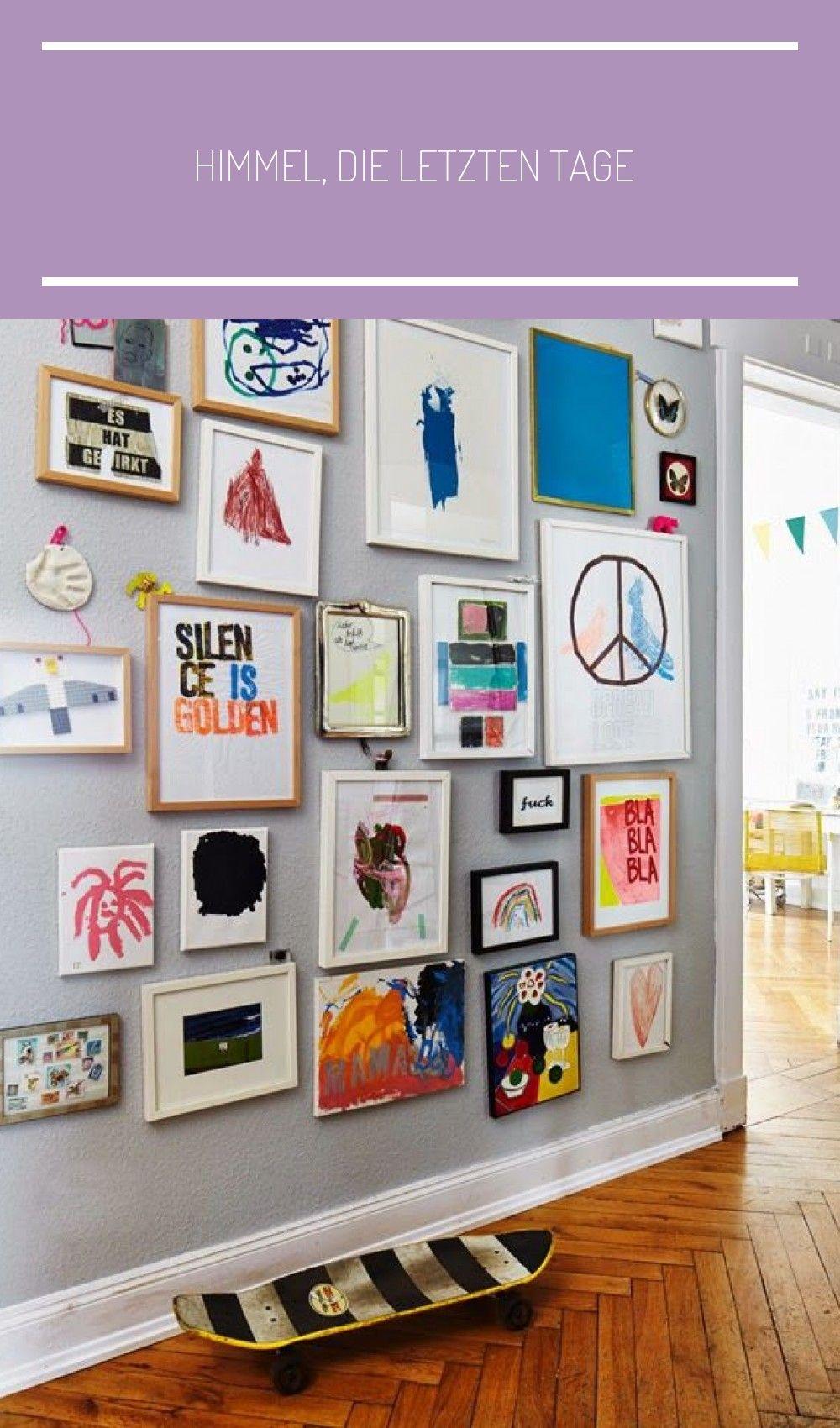 Himmel Die Letzten Tage In 2020 Kids Gallery Wall Art Display Kids Displaying Kids Artwork
