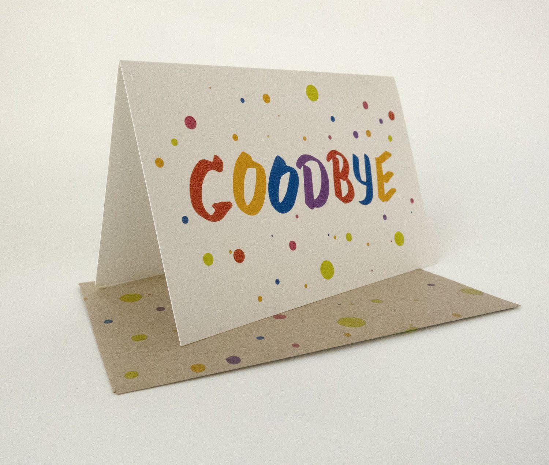rainbow goodbye card in 2020  cards handmade hand
