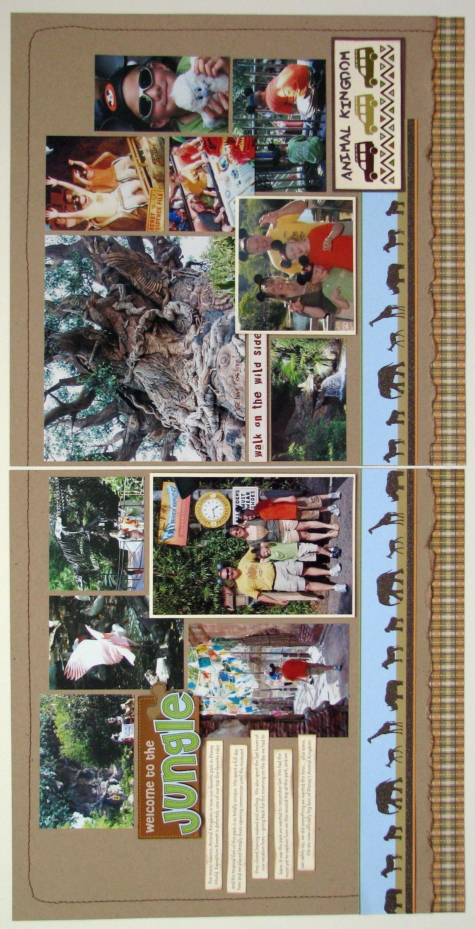 Jungle scrapbook ideas - Welcome To The Jungle Scrapbook Com
