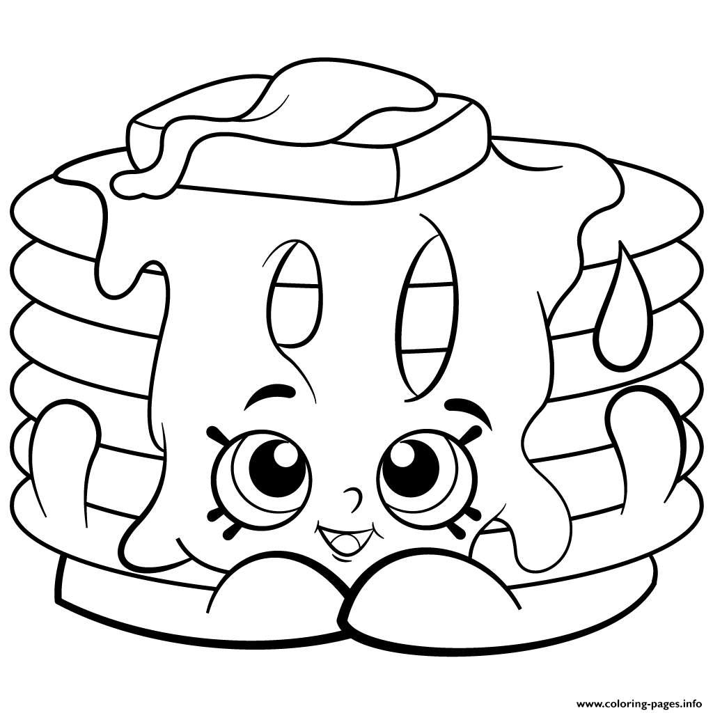 Shopkins colouring in pages free - Print Pamela Pancake Free Printable Shopkins Season 2 Coloring Pages