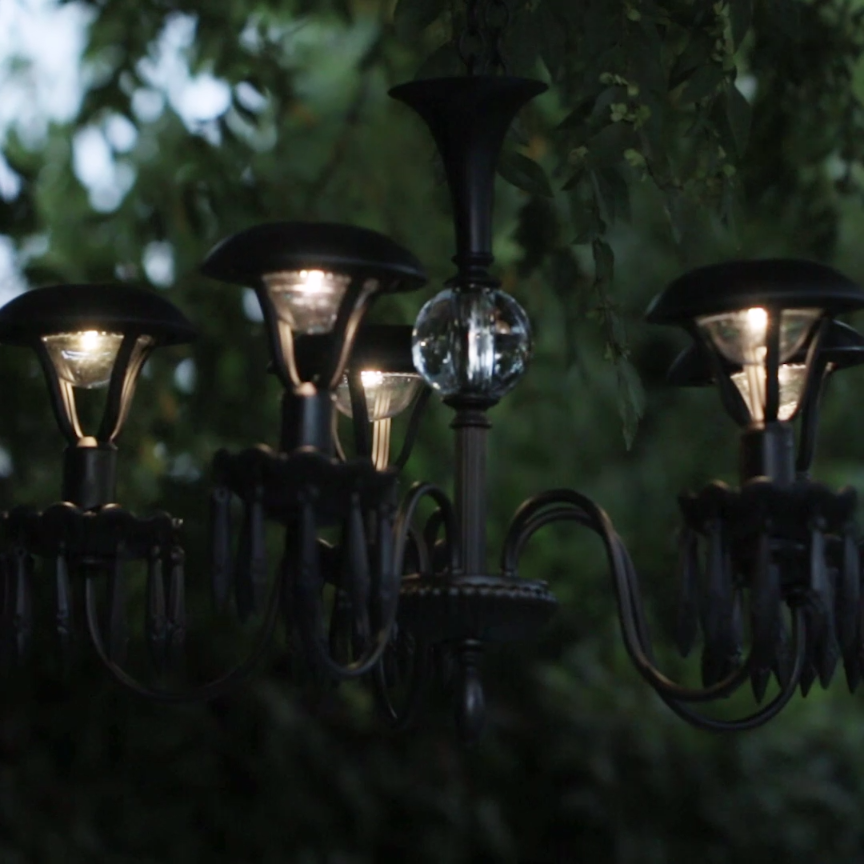 Patio Lights Diy: Light Up Your Garden With This DIY Solar Chandelier
