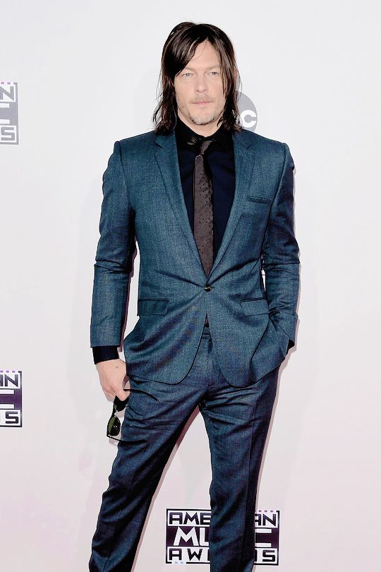 Norman Reedus attends the 2015 American Music Awards