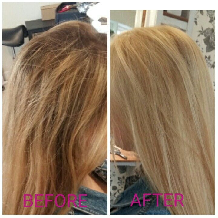 Highlighted hair to all over using wella high lift tint with bleach foils also rh pinterest