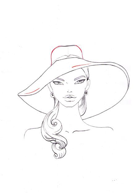 How To Draw A Hat Step 8 Drawing Fashion Pinterest Drawing