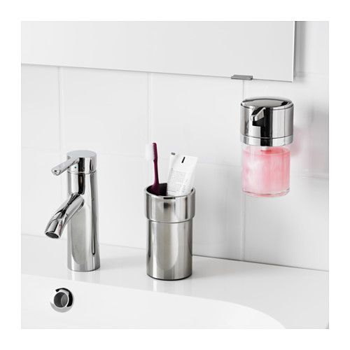 kalkgrund soap dispenser chrome plated toothbrush holders chrome plating and bath accessories. Black Bedroom Furniture Sets. Home Design Ideas