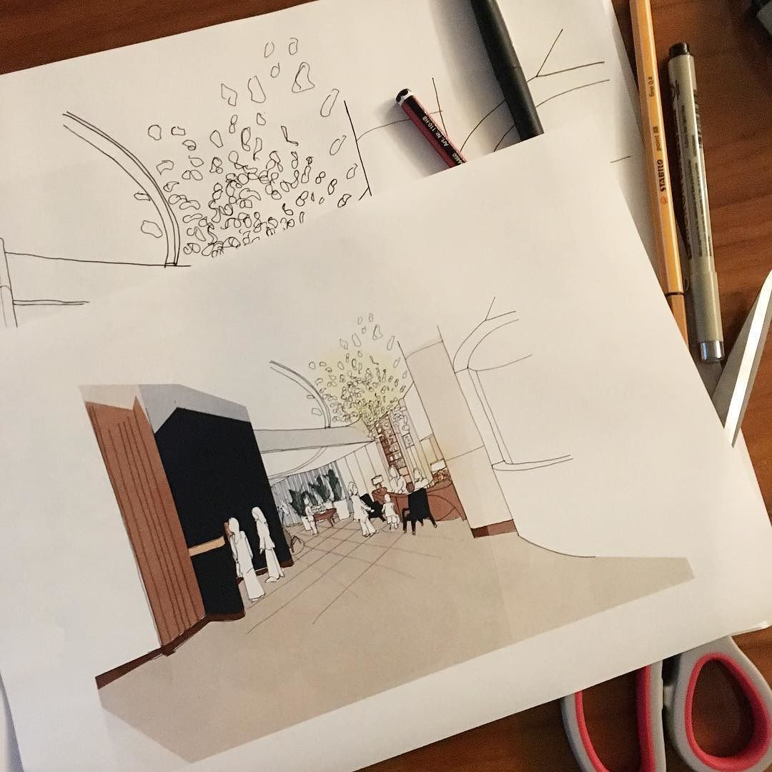 Final sketch for the night... #luxury #design #detail