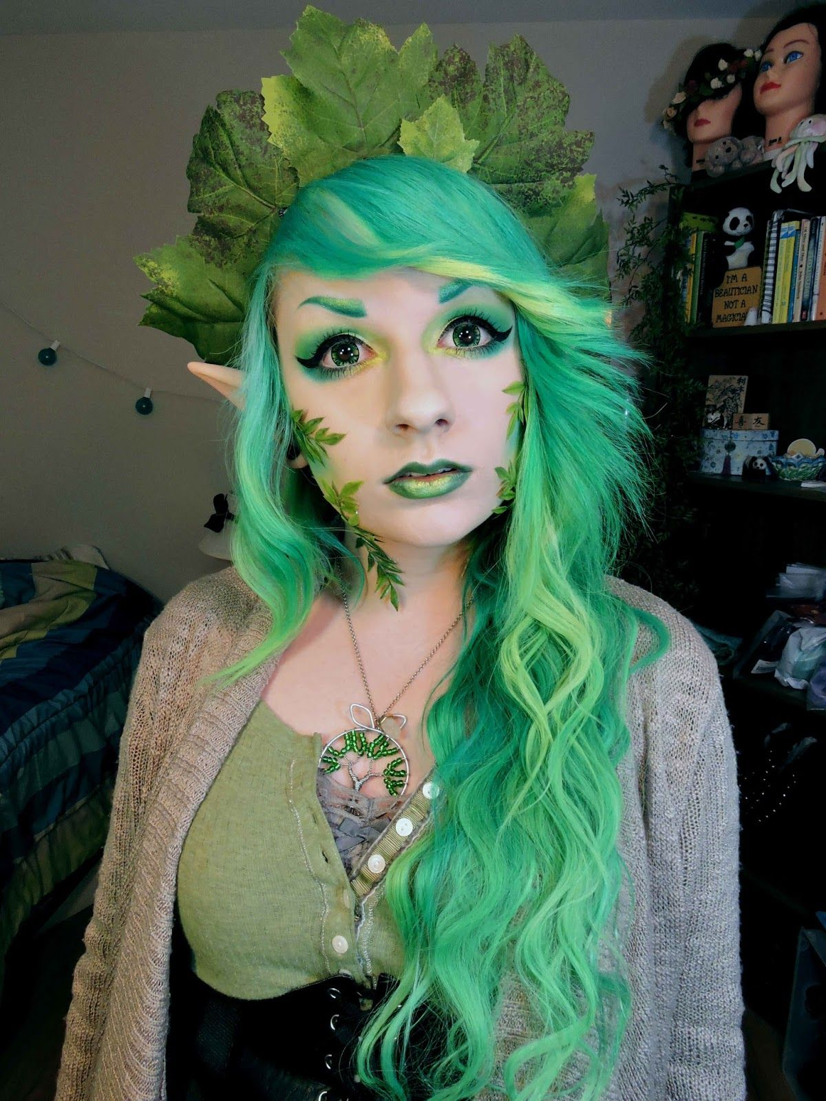 Ifairy cara green circle lenses contain chunks of yellow that fairy makeup baditri Images