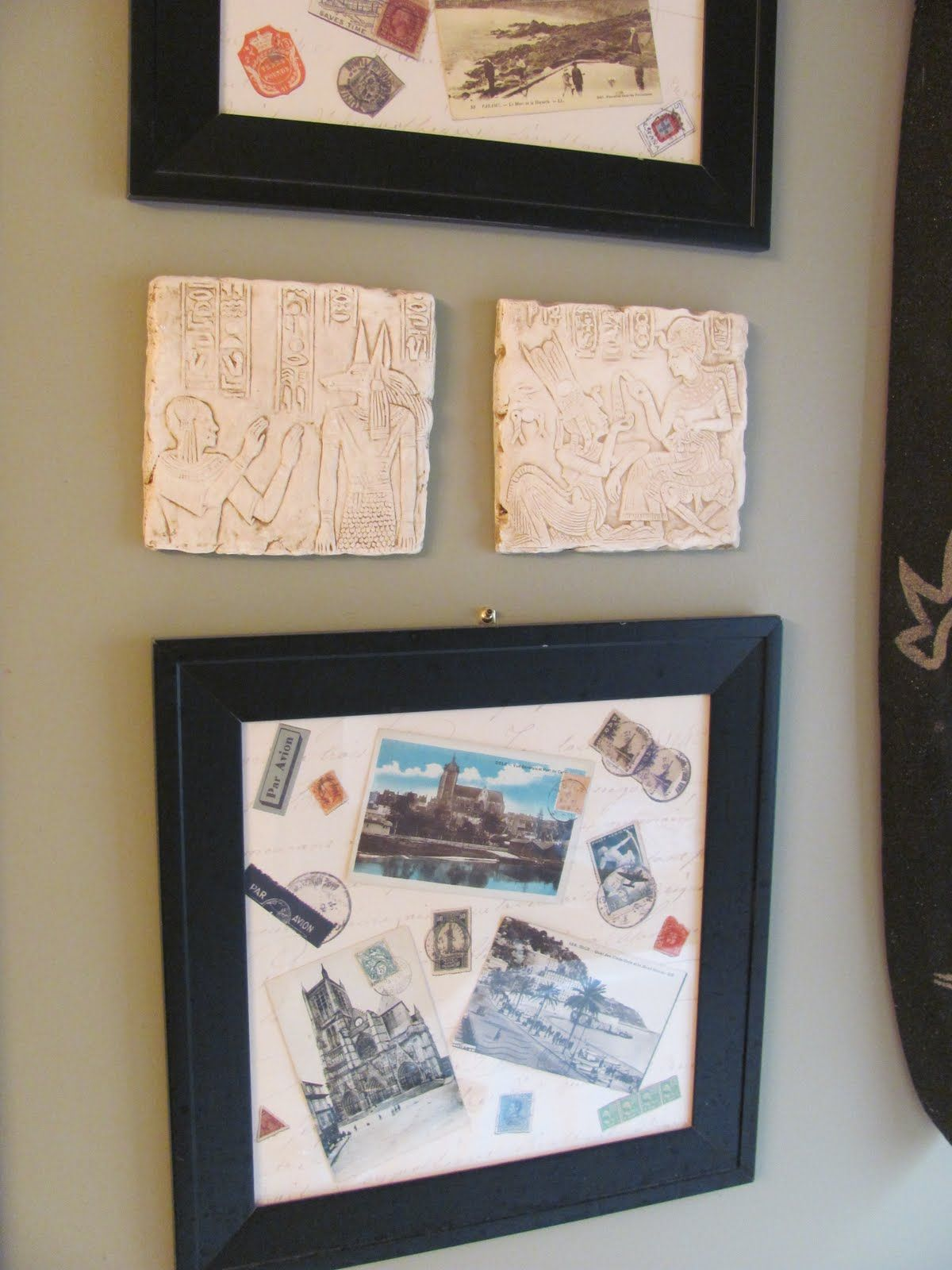 Travel Souvenirs in Decorating > postcards in a frame | TRAVEL ...