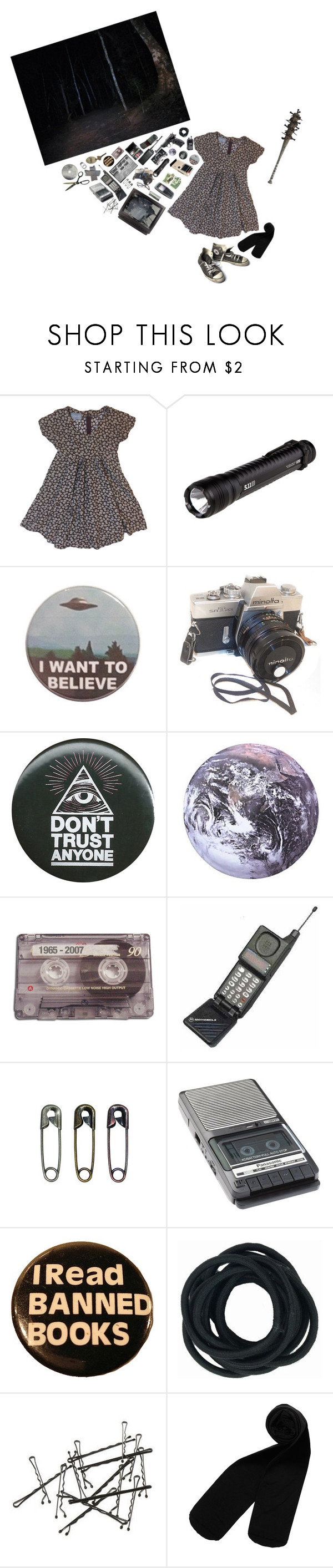 """""""Have you ever felt like you are being followed?"""" by black-and-white-hipster ❤ liked on Polyvore featuring 5.11 Tactical, Motorola, Kikkerland, Saints Row, CASSETTE, Tim Holtz, Panasonic, Monki and Converse"""