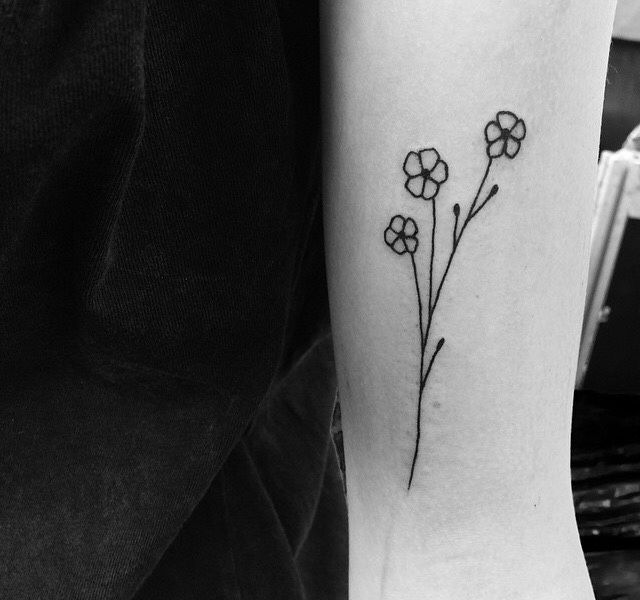 433106f87 Image result for black and white forget me not tattoo | tattoo ideas ...
