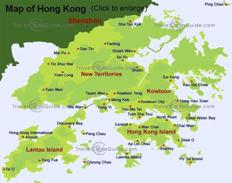 Awesome Hong Kong Map Hong Kong Map Hong Kong Travel Hong Kong