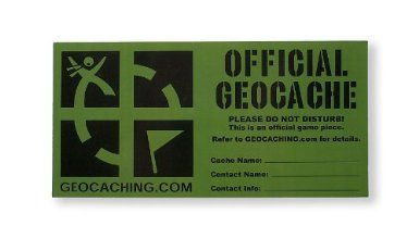 Amazon.com: Small Geocaching Sticker: Sports & Outdoors 1.75 x 4  1.25