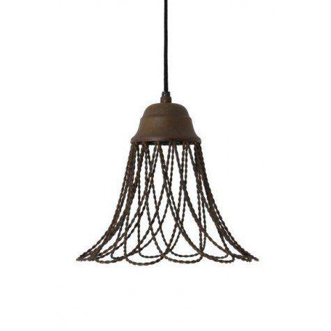 Hanglamp Ø25x26 cm BEVERLY oud roest - Light & Living